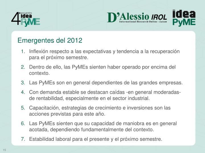 Emergentes del 2012