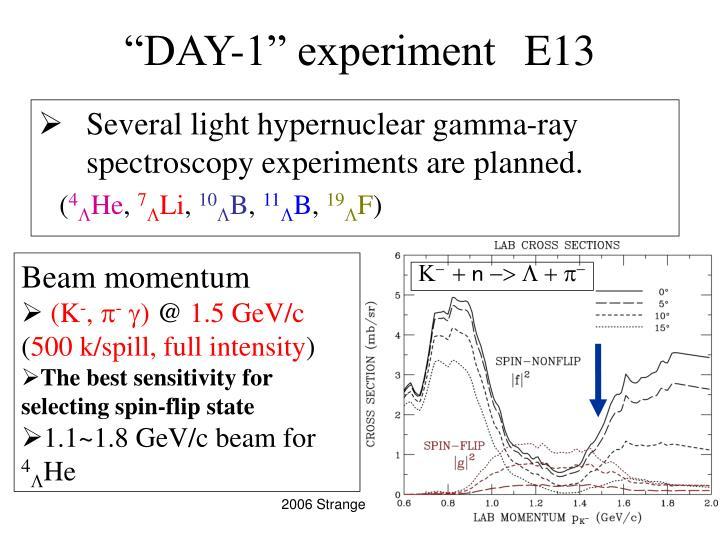 Day 1 experiment e13