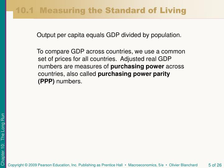 10.1  Measuring the Standard of Living