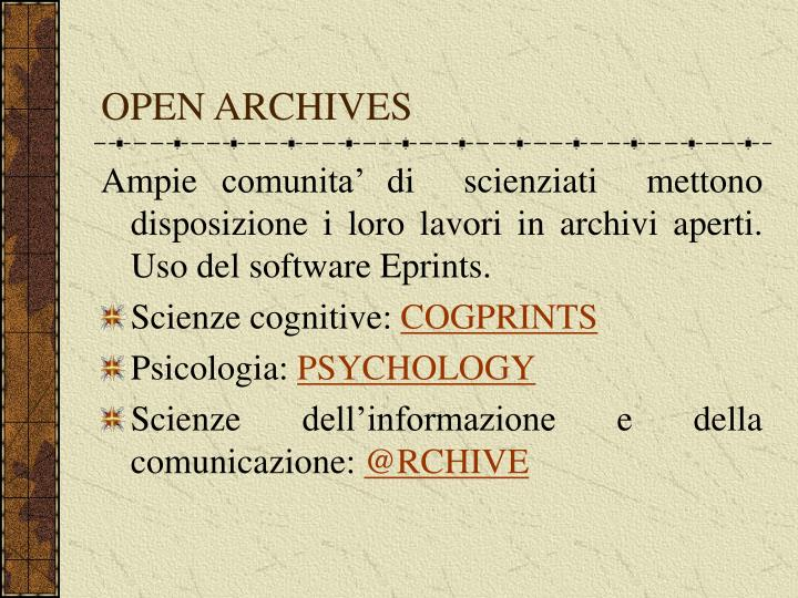 OPEN ARCHIVES