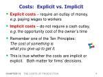 costs explicit vs implicit