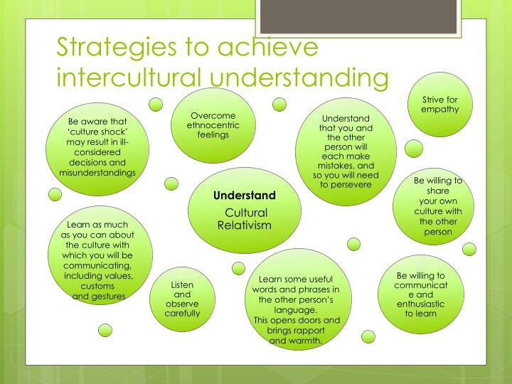 Strategies to achieve intercultural understanding