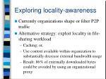 exploring locality awareness