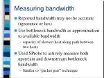 measuring bandwidth