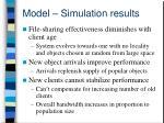 model simulation results