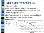 object characteristics 3