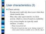 user characteristics 3
