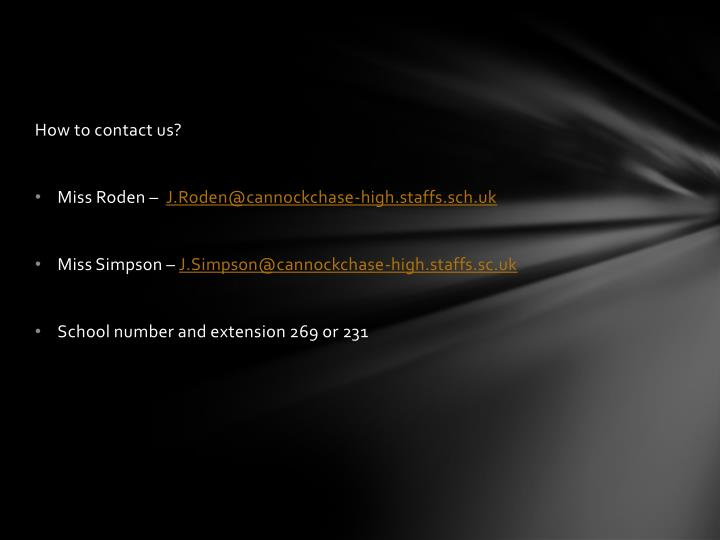 How to contact us?