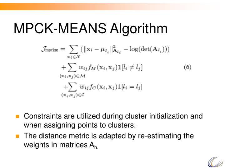 MPCK-MEANS Algorithm