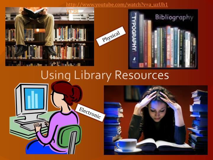 using library resources n.