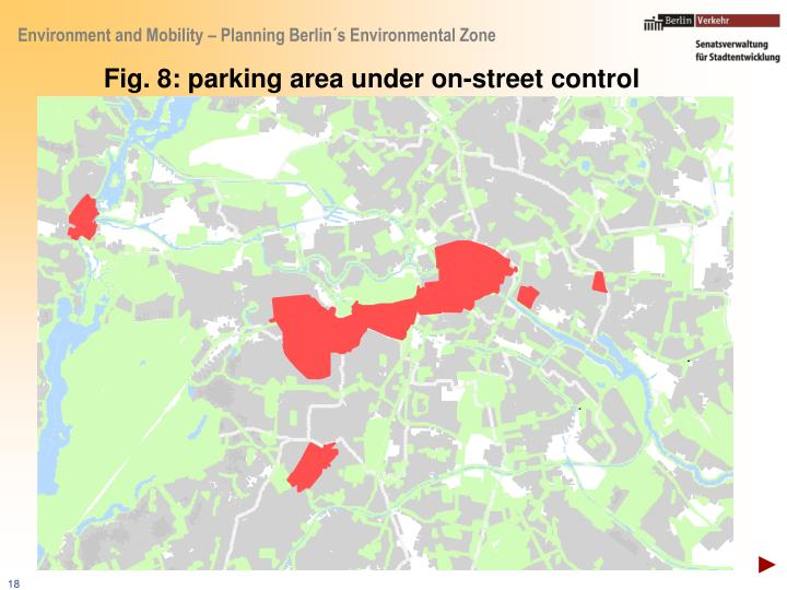 Fig. 8: parking area under on-street control
