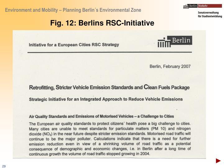 Fig. 12: Berlins RSC-Initiative
