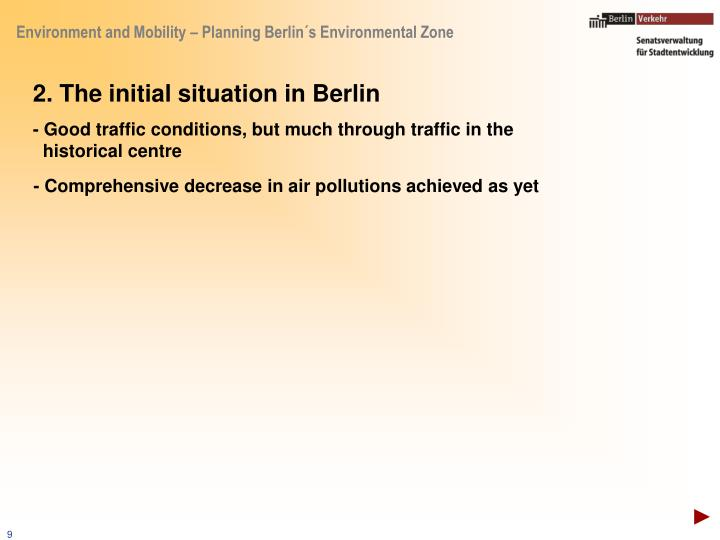 2. The initial situation in Berlin