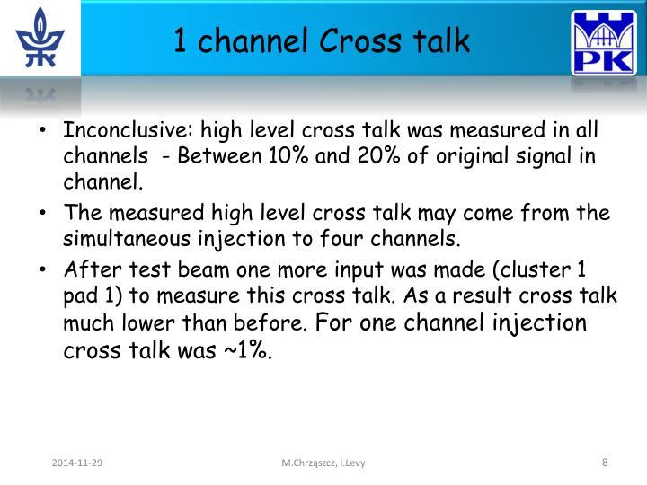 1 channel Cross talk