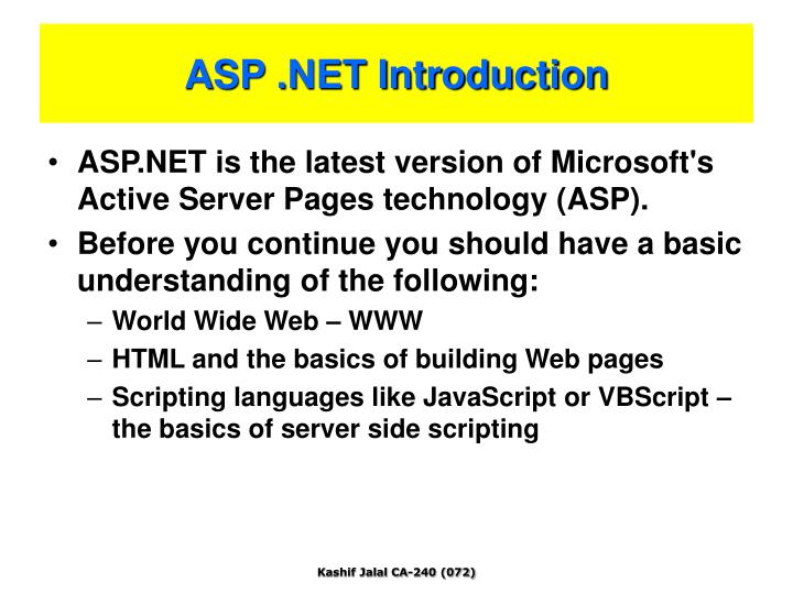 Asp net introduction