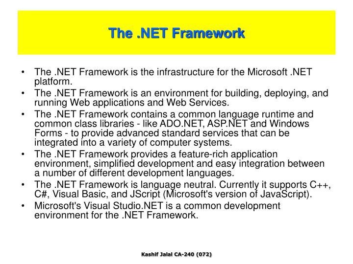 The .NET Framework