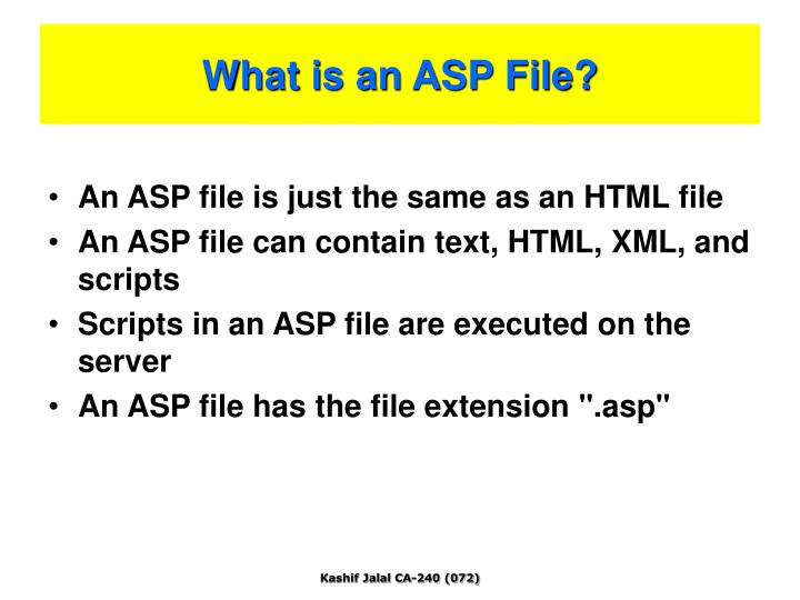 What is an ASP File?
