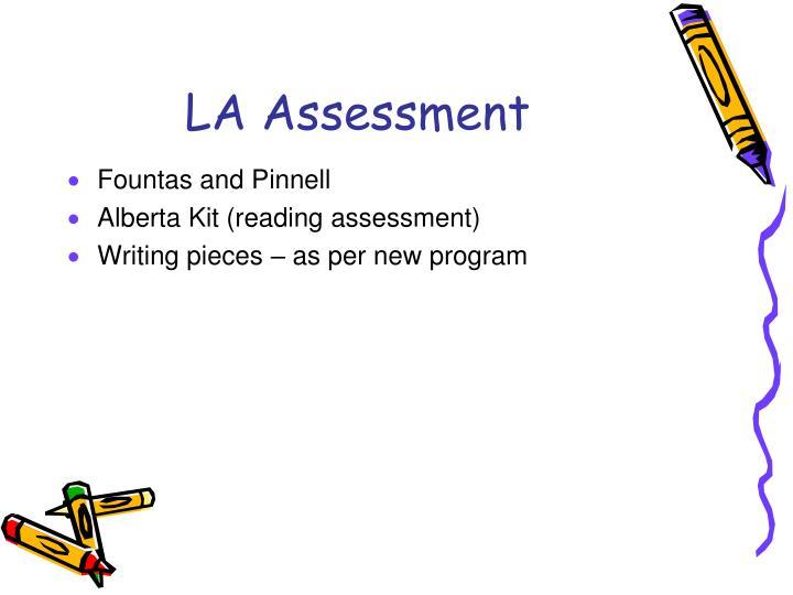 LA Assessment