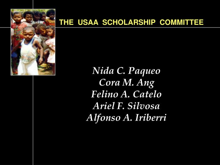 THE  USAA  SCHOLARSHIP  COMMITTEE