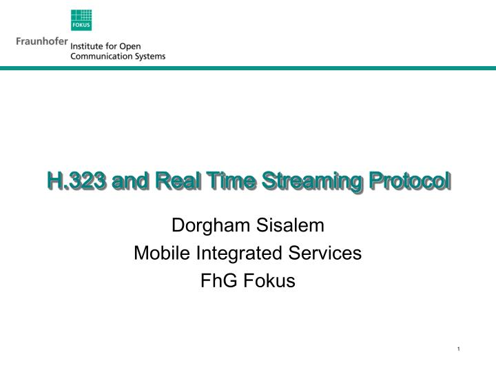 h 323 and real time streaming protocol n.