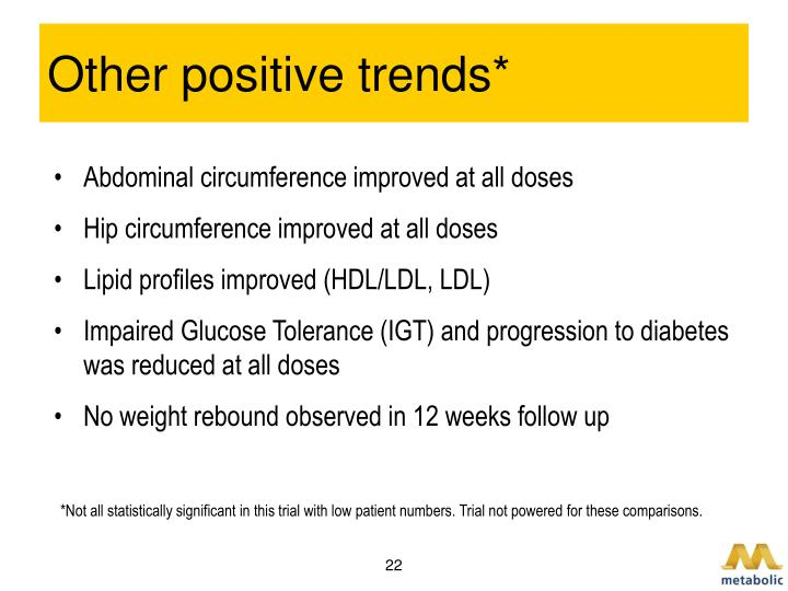 Other positive trends*