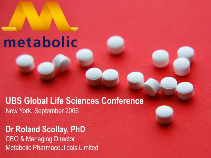 UBS Global Life Sciences Conference