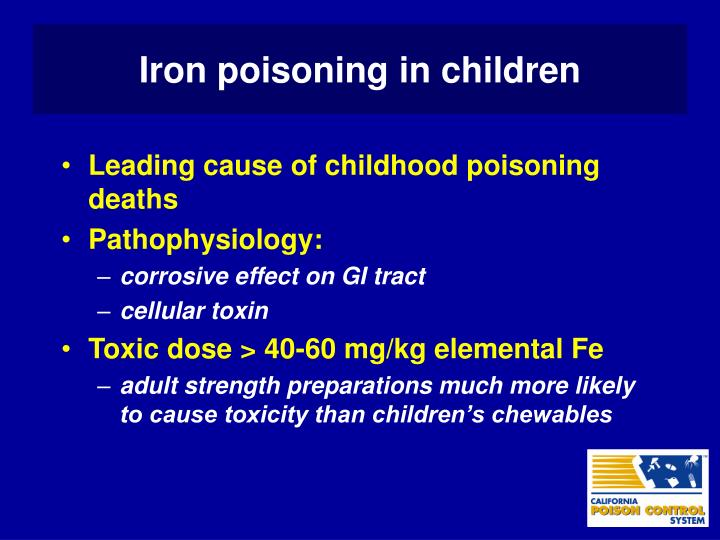 Iron poisoning in children