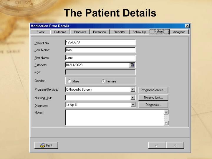 The Patient Details