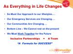 as everything in life changes