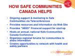how safe communities canada helps