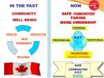 safe communities taking