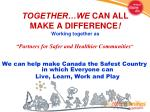 together we can all make a difference