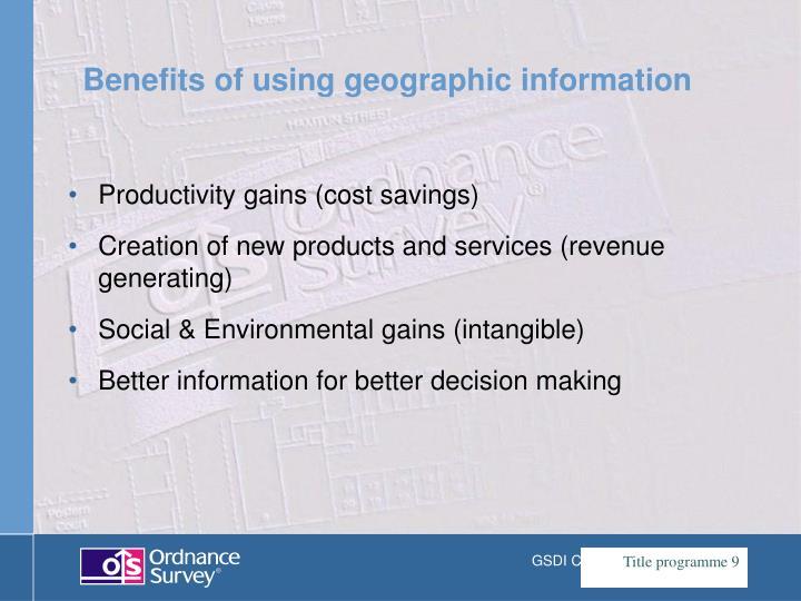 Productivity gains (cost savings)