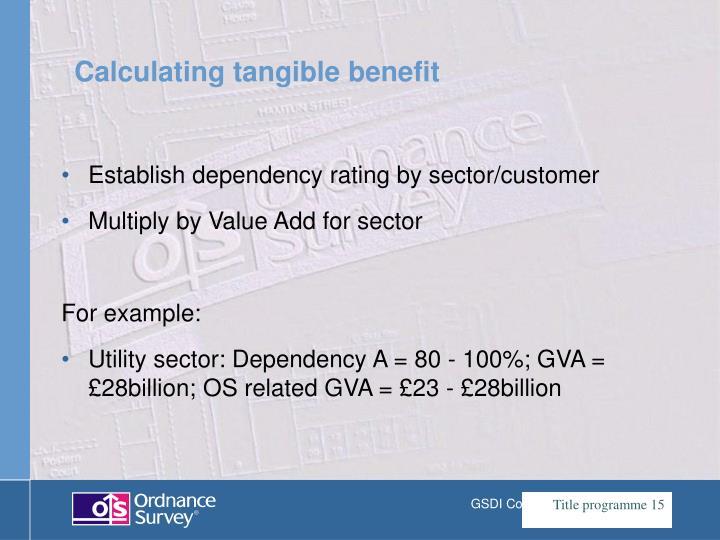 Establish dependency rating by sector/customer