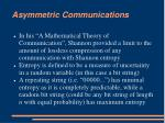 asymmetric communications1