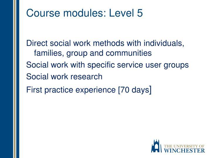 Course modules: Level 5