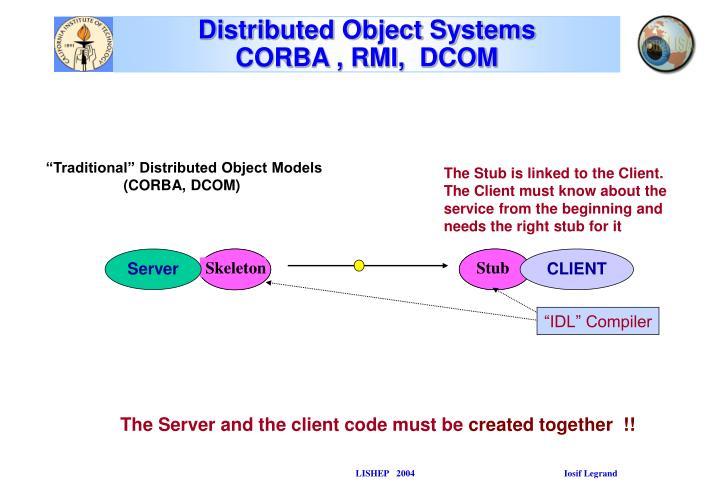 Distributed object systems corba rmi dcom