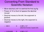 converting from standard to scientific notation