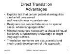 direct translation advantages