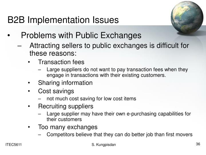 B2B Implementation Issues