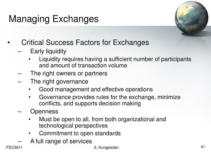 Managing Exchanges