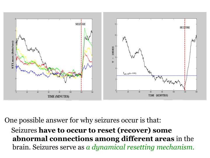 One possible answer for why seizures occur is that: