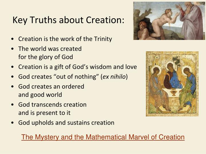 Key Truths about Creation: