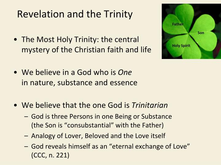 Revelation and the Trinity