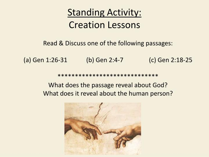 Read & Discuss one of the following passages: