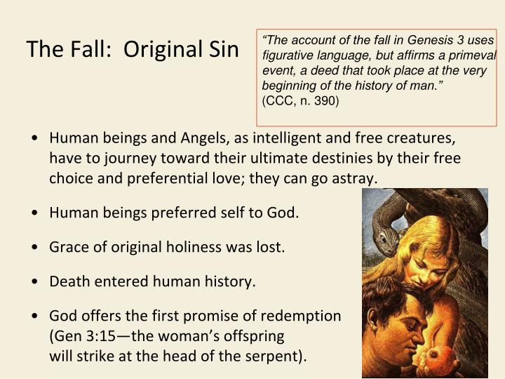 The Fall:  Original Sin