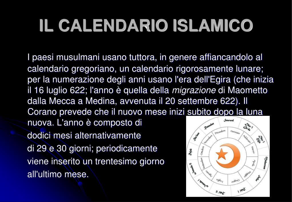 Calendario Islamico.Ppt Introduzione Powerpoint Presentation Id 7028111