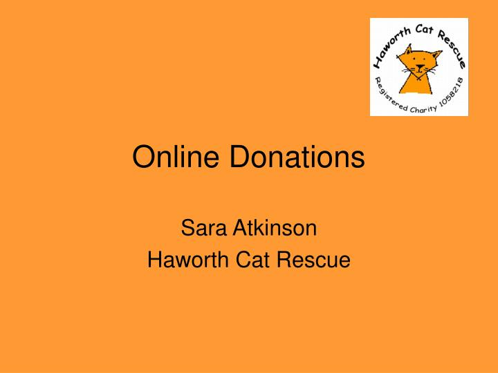 online donations n.