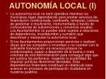 autonom a local i