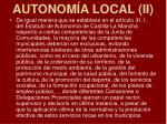 autonom a local ii